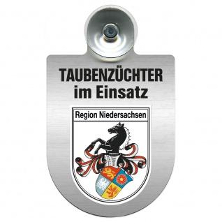 Einsatzschild Windschutzscheibe incl. Saugnapf - Taubenzüchter im Einsatz - 309385 Region Niedersachsen
