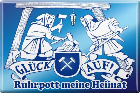 Kühlschrankmagnet - Ruhrpott meine Heimat - Gr. ca. 8 x 5, 5 cm - 38782 - Magnet Küchenmagnet - Vorschau 1