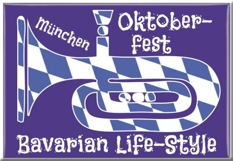Kühlschrankmagnet - Oktoberfest München - Bavarian Life-Style - Gr. ca. 8 x 5, 5 cm - 38162 - Küchenmagnet