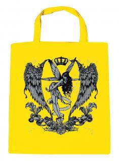(U10898)Umweltfreundliche Baumwoll - Tasche , ca. 28 x 43 cm mit Aufdruck in 7 Farben gelb