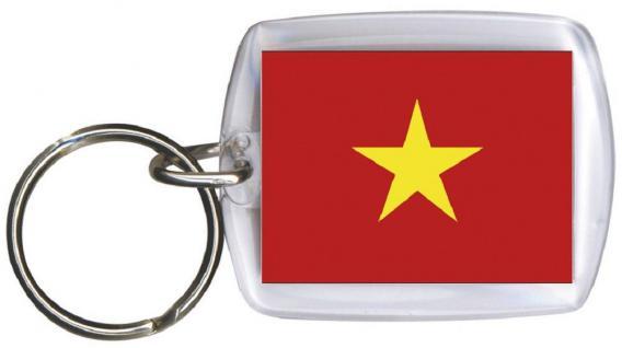 Schlüsselanhänger Anhänger - VIETNAM - Gr. ca. 4x5cm - 81185 - Keyholder WM Länder