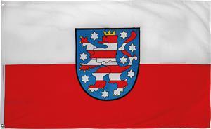 Fan-Fahne Fahne mit Ösen - THÜRINGEN - Gr. ca. 40x30cm - 07913 - Autoscheibenfahne Dekoflagge