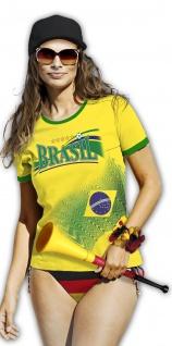 T-Shirt Print Brasil Brasilien Fußball Soccer 10947 Gr. S