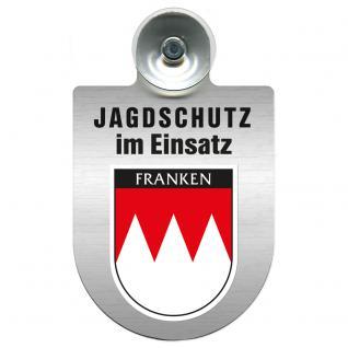 Einsatzschild Windschutzscheibe incl. Saugnapf - Jagdschutz im Einsatz- 309368-18 - Region Franken