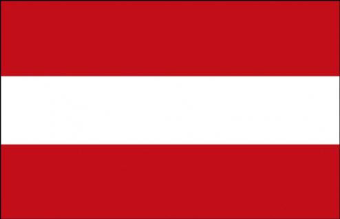 Autoländerfahne - Österreich - Gr. ca. 40x30cm - 78004 - Länderflagge mit Klemmstab, Fahne, Dekofahne