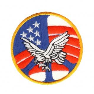 Aufnäher Adler Flagge USA rund Gr. ca. 8 cm 20579