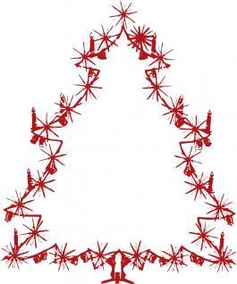 Wandtattoo Dekorfolie Weihnachtsbild Weihnachtsbaum Tannenbaum WD0810 - rot / 120cm