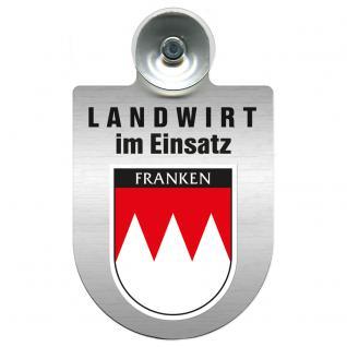 Einsatzschild Windschutzscheibe incl. Saugnapf - Landwirt im Einsatz - 309369-18 - Region Franken