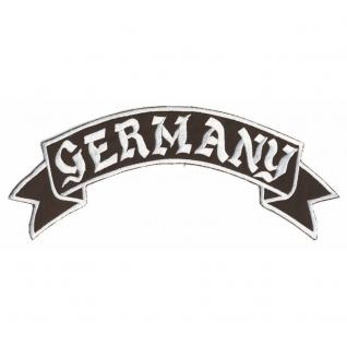 Rückenaufnäher - Germany - 08510b - Gr. ca. 28 x 7 cm - Patches Stick Applikation