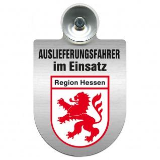 Einsatzschild Windschutzscheibe incl. Saugnapf - Auslieferungsfahrer im Einsatz - 309365 Region Hessen