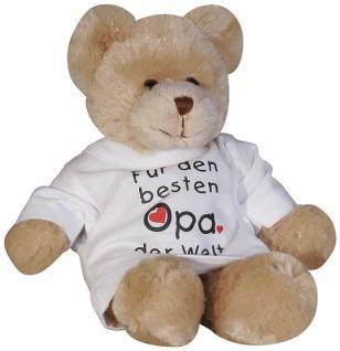 Plüsch - Teddybär mit Shirt - für den besten Opa der Welt - 27031 - Größe ca. 26 cm