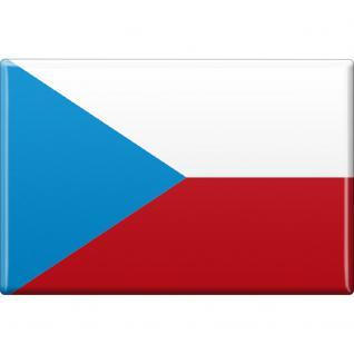 Magnet - Länderflagge Tschechien - Gr.ca. 8x5, 5 cm - 37842
