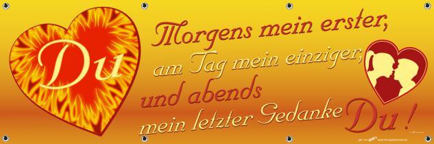 Banner Werbebanner - Du Morgens mein erster ... letzter Gedanke - 3x1m - Spannband für Ihren Werbeauftritt / Bedruckt mit Ihrem Motiv -309994 - Vorschau