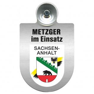 Einsatzschild Windschutzscheibe incl. Saugnapf - Metzger im Einsatz - 393825 - Region Sachsen-Anhalt