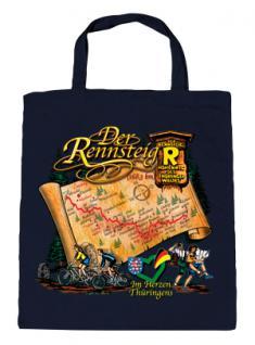 """(08801) Umweltfreundliche Baumwoll - Tasche , ca. 28 x 43 cm mit Druck """" Der Rennsteig"""" in 5 Farben schwarz"""