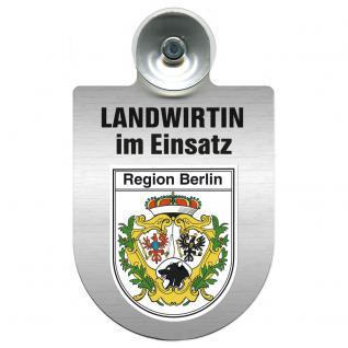 Einsatzschild Windschutzscheibe incl. Saugnapf - Landwirtin im Einsatz - 309738-14 Region Berlin