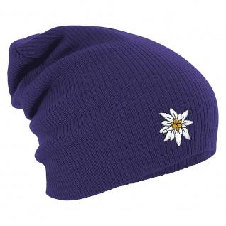 Longbeanie Slouch-Beanie Wintermütze Edelweiss 54822 lila
