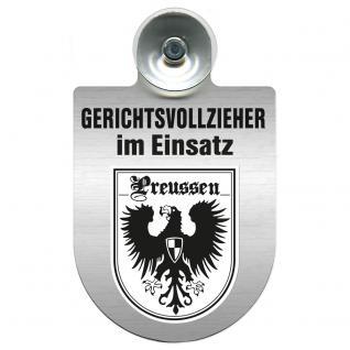 Einsatzschild Windschutzscheibe incl. Saugnapf - Gerichtsvollzieher im Einsatz - 309744-19 - Region Preussen