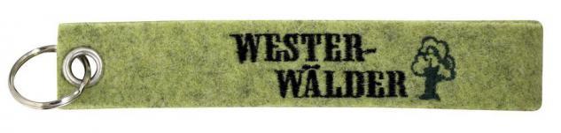 Filz-Schlüsselanhänger mit Stick WESTERWÄLDER Gr. ca. 17x3cm 14170 grün