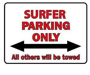 Parkschild - Surfer Parking Only - 308736 - Gr. 40 x 30 cm