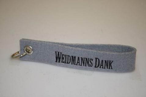 Filz-Schlüsselanhänger mit Stick - Weidmannsdank - Gr. ca. 17x3cm - 14362