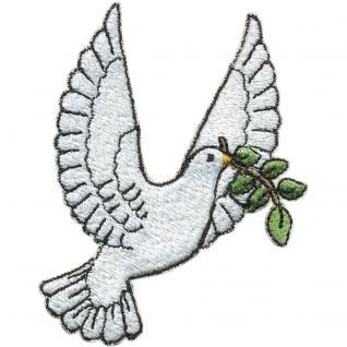 """Aufnäher Stick Emblem Abzeichen Patches Applikation Aufnäher Motivstick """" Vogel Taube"""" NEU Gr. ca. 6, 5cm x 9cm (03083)"""