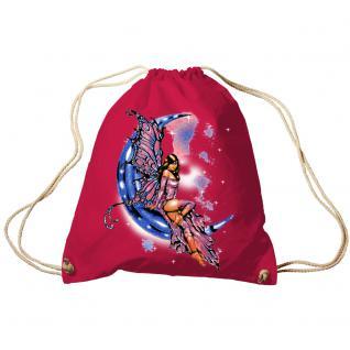 Trend-Bag Turnbeutel Sporttasche Rucksack mit Print - Fee auf dem Mond - TB10899