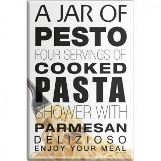 KÜCHENMAGNET - Jar of Pesto Pasta - Gr. ca. 8 x 5, 5 cm - 38903 - Magnet