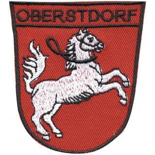 AUFNÄHER - Wappen - Obertsdorf - 00362 - Gr. ca. 9 x 6 cm - Patches Stick Applikation