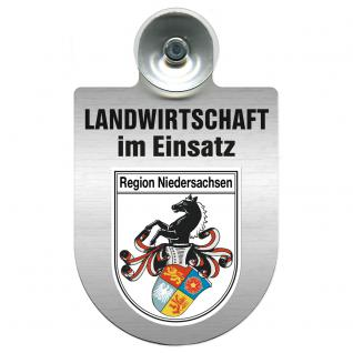 Einsatzschild für Windschutzscheibe incl. Saugnapf - Landwirtschaft im Einsatz - 309460 - Region Niedersachsen
