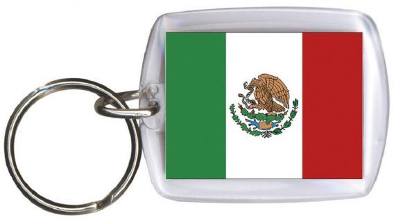 Schlüsselanhänger Anhänger - MEXICO - Gr. ca. 4x5cm - 81107 - Keyholder WM Länder