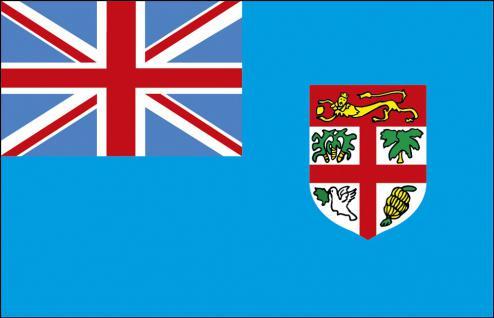 Auto-Länderflagge - Fidji - Gr. ca. 40x30cm - 78049 - Flagge mit Klemmstab, Autoländerfahne