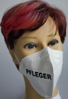 1x FFP2 Maske Deutsche Herstellung CE zertifiziert mit Aufdruck - Pfleger