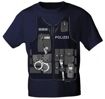 Kinder T-Shirt mit Vorder- und Rückenprint - Polizei - 12792 marine - Gr. 98/104
