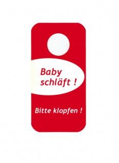"""Türschild Türhänger - """" Baby schläft! Bitte klopfen"""" & """" Bitte klopfen"""" - Gr. 20, 0 x 10, 0 cm - 307971"""