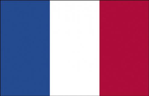 Auto-Länderflagge - Frankreich - Gr. ca. 40x30cm - 78051 - Fahne mit Klemmstab Autoländerfahne