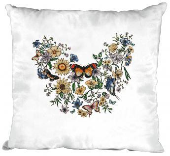 Dekokissen mit Print - Schmetterling - Gr. ca. 40cm x 40cm - K09840