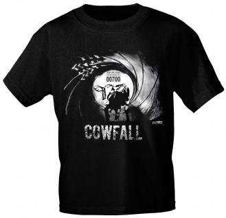 T-Shirt mit Print - Cowfall - 10755 schwarz - Gr. S-XXL