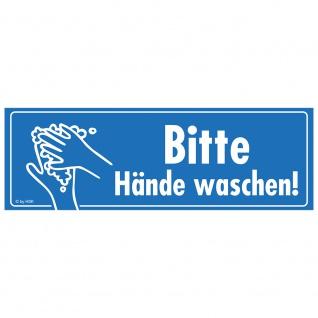 Warnschild - Bitte Hände waschen - Gr. ca. 15 x 5 cm - 307528/1 - Schutz vor Viren und Bakterien