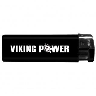 Einwegfeuerzeug mit Motiv - Trucker - Viking Power - 01144 versch. Farben schwarz