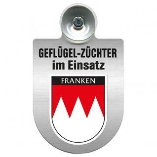 Einsatzschild Windschutzscheibe incl. Saugnapf - Geflügelzüchter im Einsatz - 309362-18 Region Franken