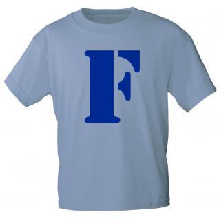 """Marken T-Shirt mit brillantem Aufdruck """" F"""" 85121-F XL"""