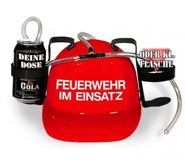 Trinkhelm Spaßhelm mit Printmotiv - Feuerwehr im Einsatz - 51645 - versch. Farben zur Wahl