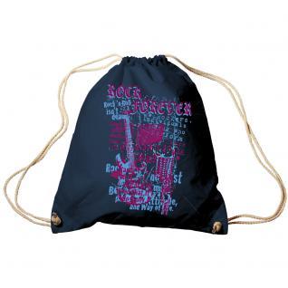 Trend-Bag Turnbeutel Sporttasche Rucksack mit Print -Rock forever - TB65306 Navy