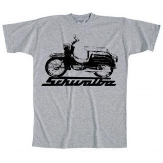 T-Shirt unisex mit Print - Schwalbe - 09436 - hellgrau - Gr. S
