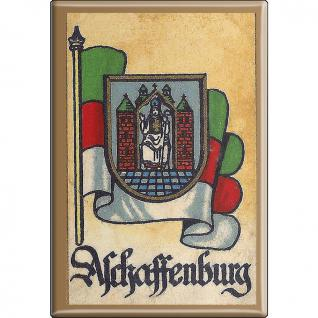 Küchenmagnet - Wappen Aschaffenburg - Gr. ca. 8 x 5, 5 cm - 37506 - Magnet Kühlschrankmagnet