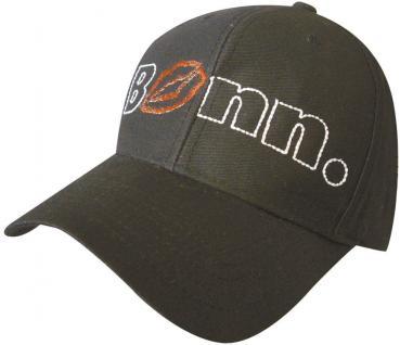 BaseCap - Cappy mit Bestickung - Bonn - 68879 schwarz - Baumwollcap Cap Baseballcap Schirmmütze