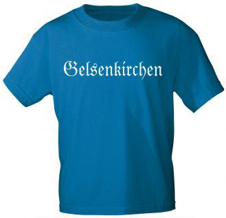 T-Shirt mit Print - Gelsenkirchen - 09691 royalblau Gr. S-2XL