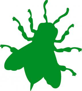 "PVC Applikations- Aufkleber , in 8 Farben"" BIENE"", Größe ca.40 cm AP1056 grün"