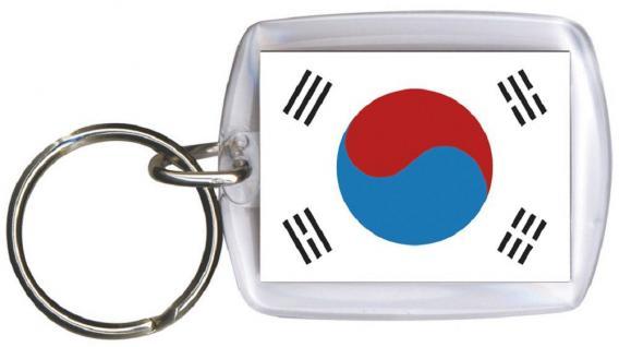 Schlüsselanhänger Anhänger - SÜDKOREA - Gr. ca. 4x5cm - 81138 - Keyholder WM Länder